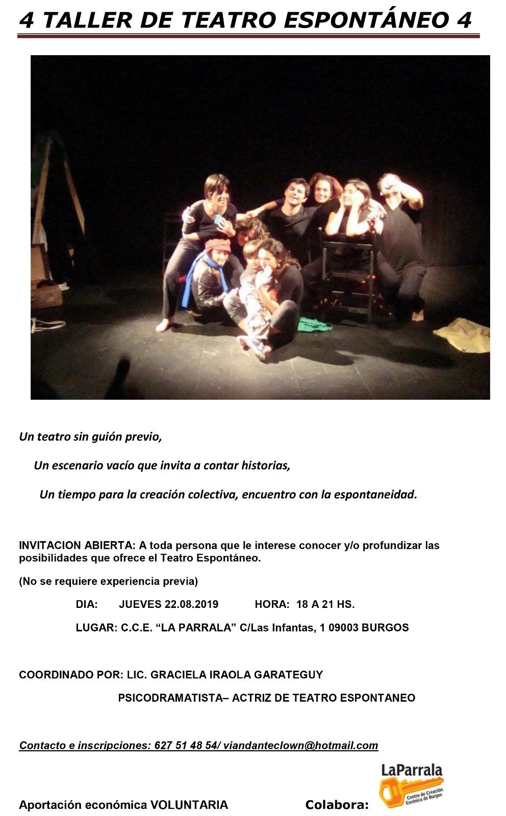4 taller de teatro espontáneo
