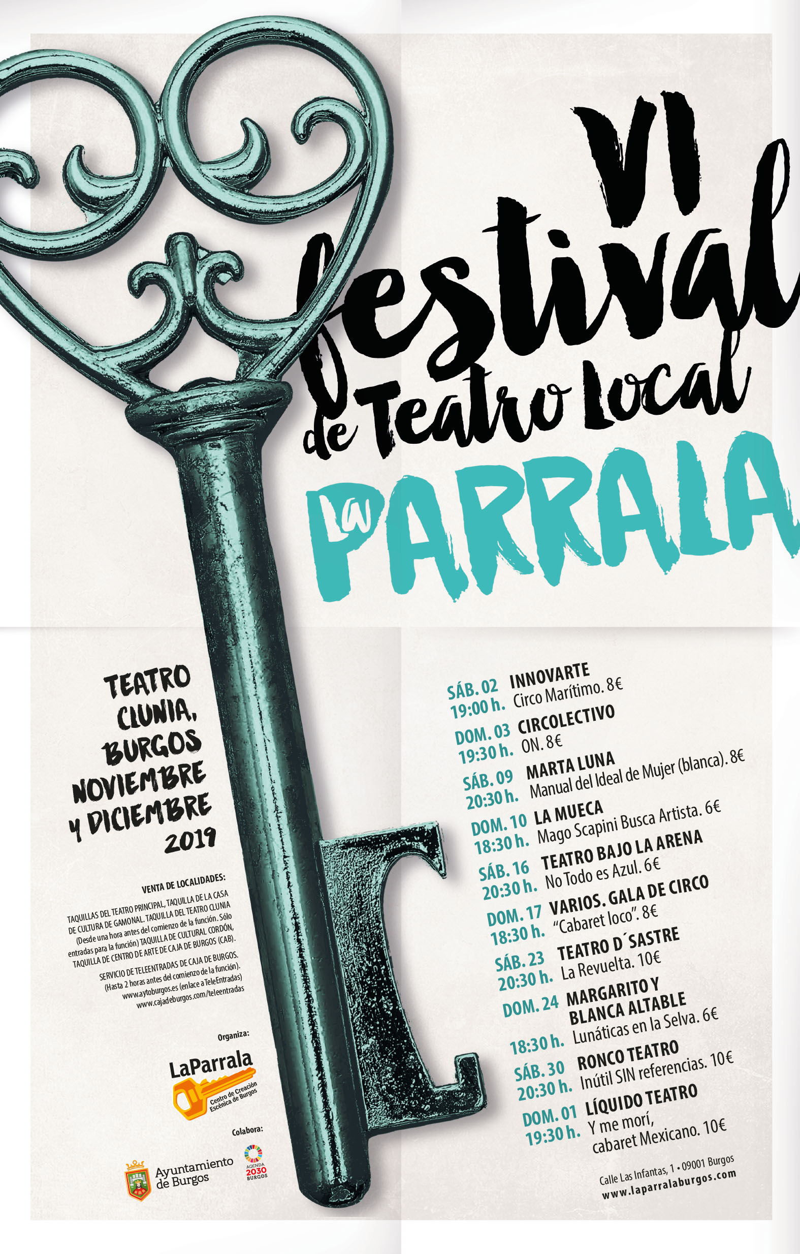 cartel VI FESTIVAL DE TEATRO LOCAL
